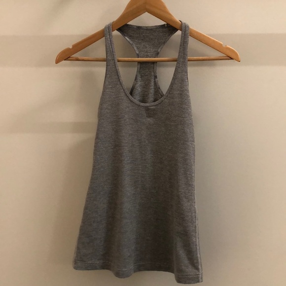 lululemon athletica Tops - Lululemon gray stripe tank, sz 4